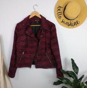 Jackets & Blazers - ⬇️$40 Dana Buchman Tweed Moto Blazer Rose Pink 14